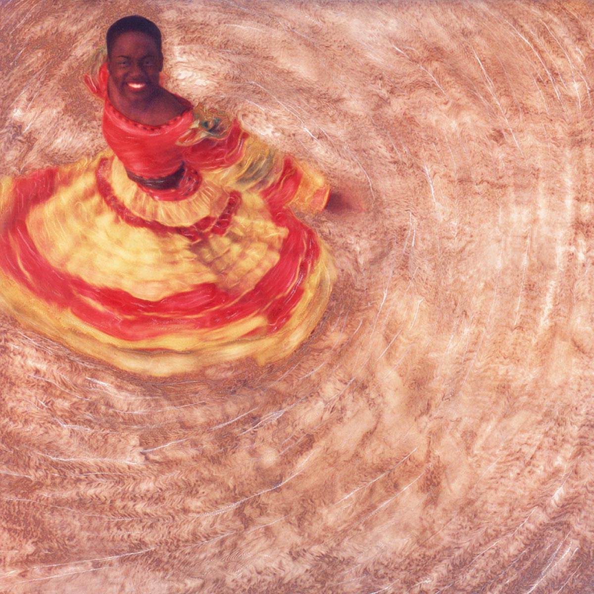 """Island Dancer"" <br>Swirls on Sand, Jamaica"